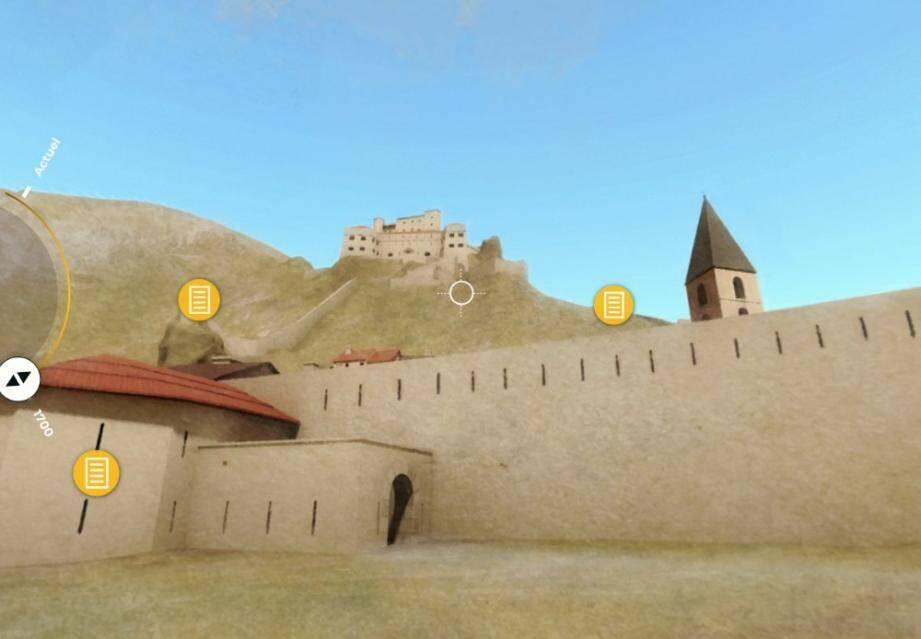 L'application offre des vues à 360 degrés pour comparer les deux époques.