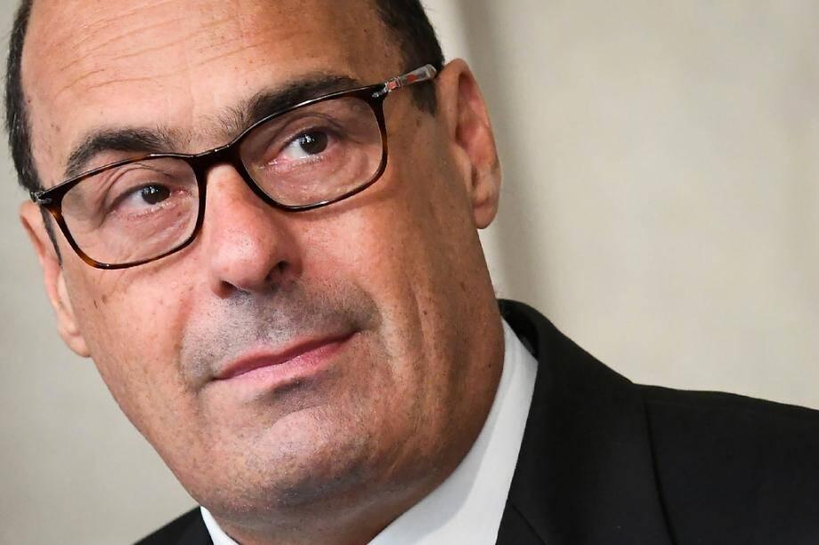 Le chef du Parti démocrate (PD) italien Nicola Zingaretti le 22 aoûtà Rome après une rencontre avec le président italien Sergio Mattarella