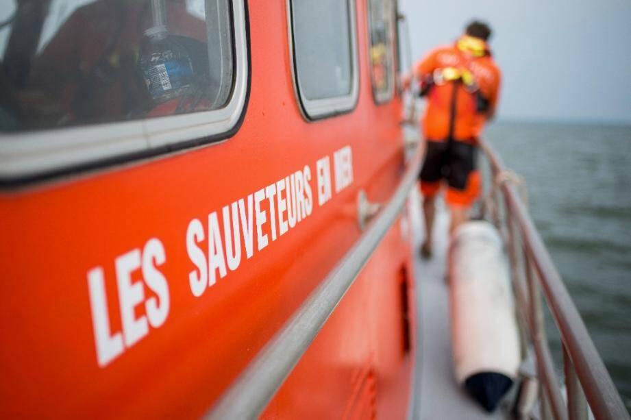 Un bateau de la SNSM le 28 juin 2019 à Saint-Nazaire en France.