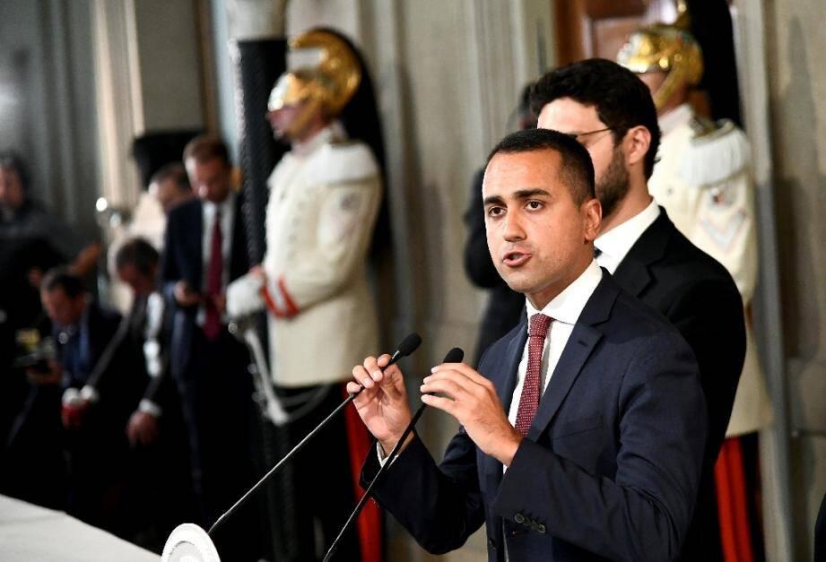 Le leader du Mouvement Cinq Etoiles (M5S) Luigi Di Maio lors d'une conférence de presse, le 22 août 2019 à rOME