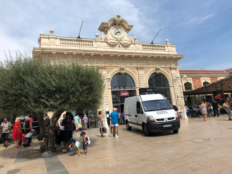 La gare de Toulon ce mardi après-midi.