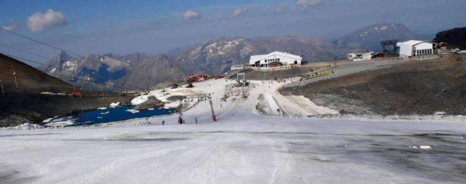 La piste du glacier des Deux-Alpes.