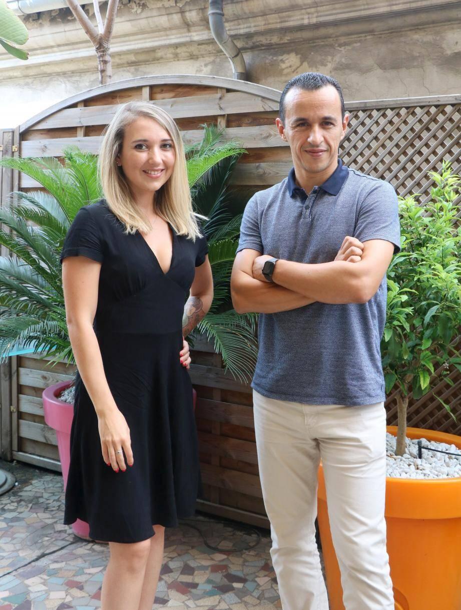 Toufik Lerari, président-directeur général de tequilarapido prend la pose avec Alix Bourême, directrice de la communication.