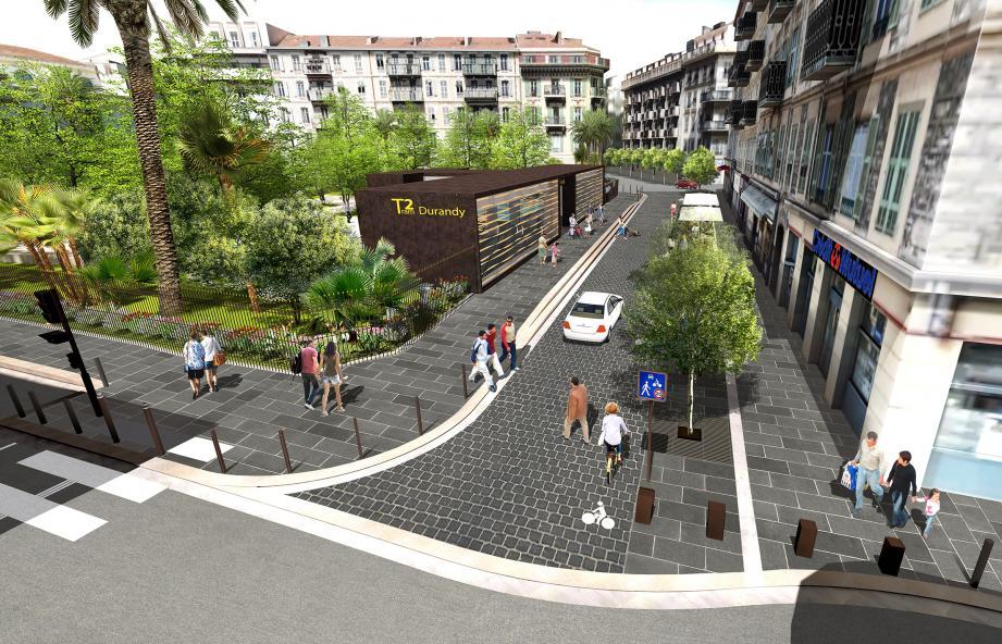 Voici à quoi devrait ressembler la station Durandy à la fin de l'année.