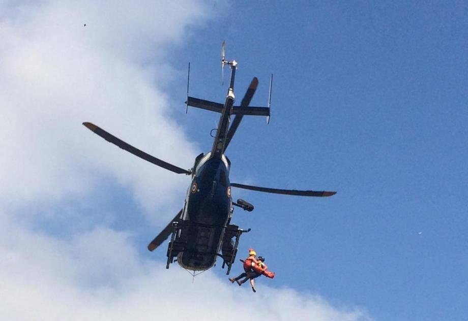 La CRS des Alpes est intervenue pour secourir une jeune femme qui s'est brisé la cheville après un saut dans l'Estéron.