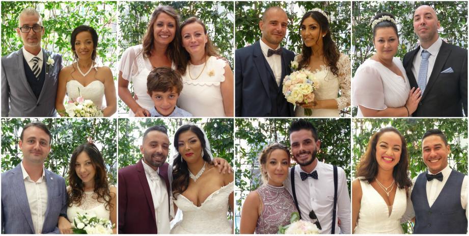 Une partie des mariés du week-end à Nice.