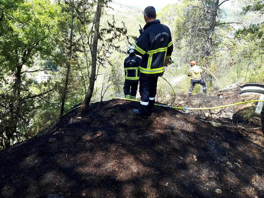 L'incendie de Peillon a été rapidement maîtrisé.