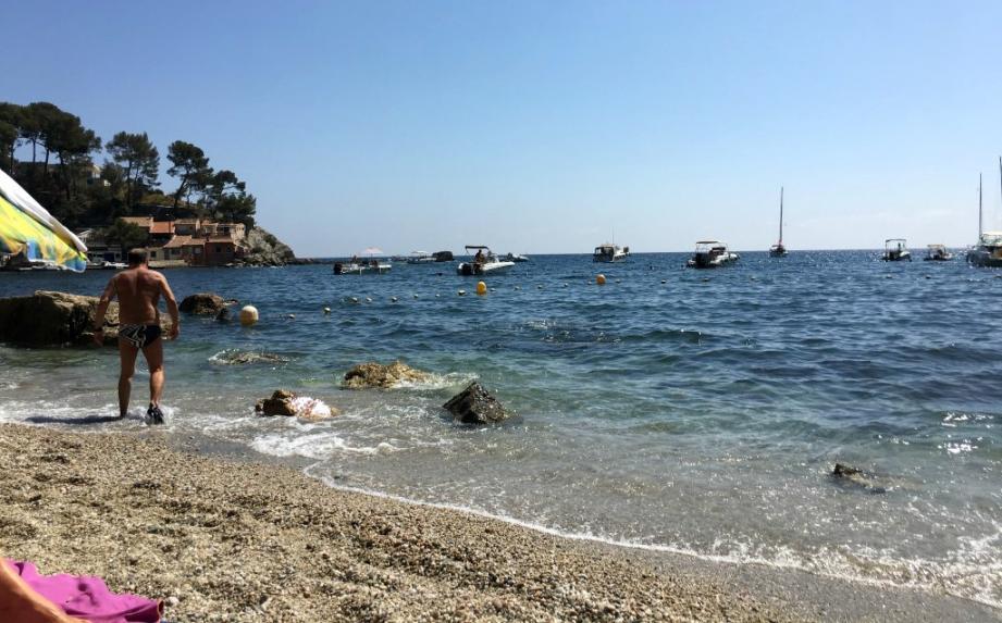 Les baigneurs s'agacent contre les bateaux à moteur qui jettent l'ancre à quelques mètres d'eux.