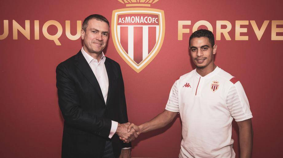 Oleg Petrov, vice-président de l'AS Monaco et Wissam Ben Yedder.