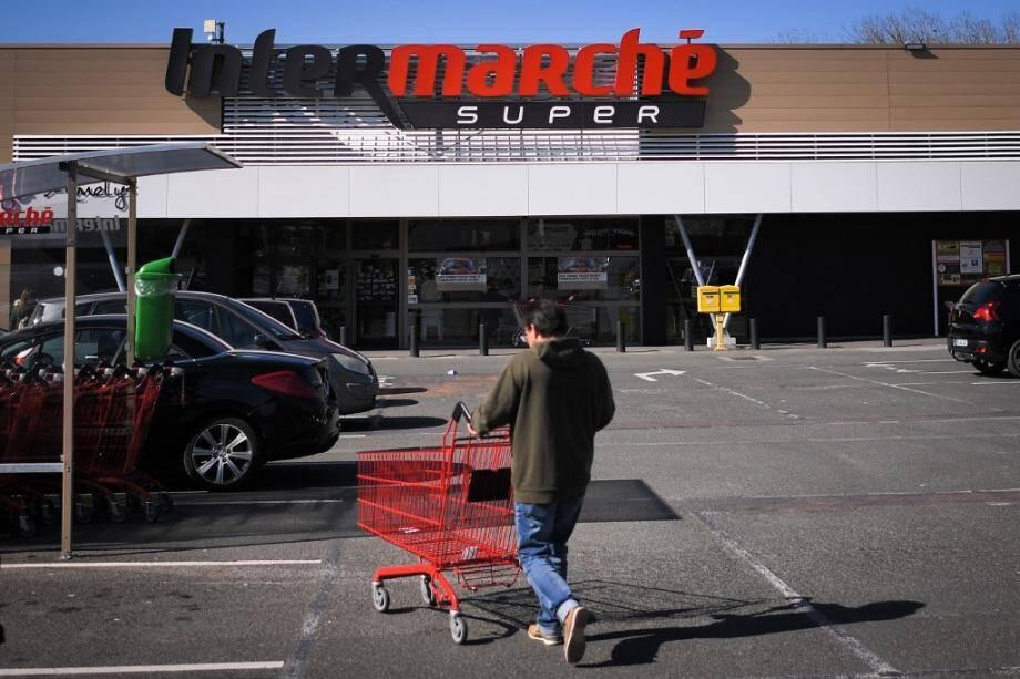 Un Intermarché en France. Illustration.