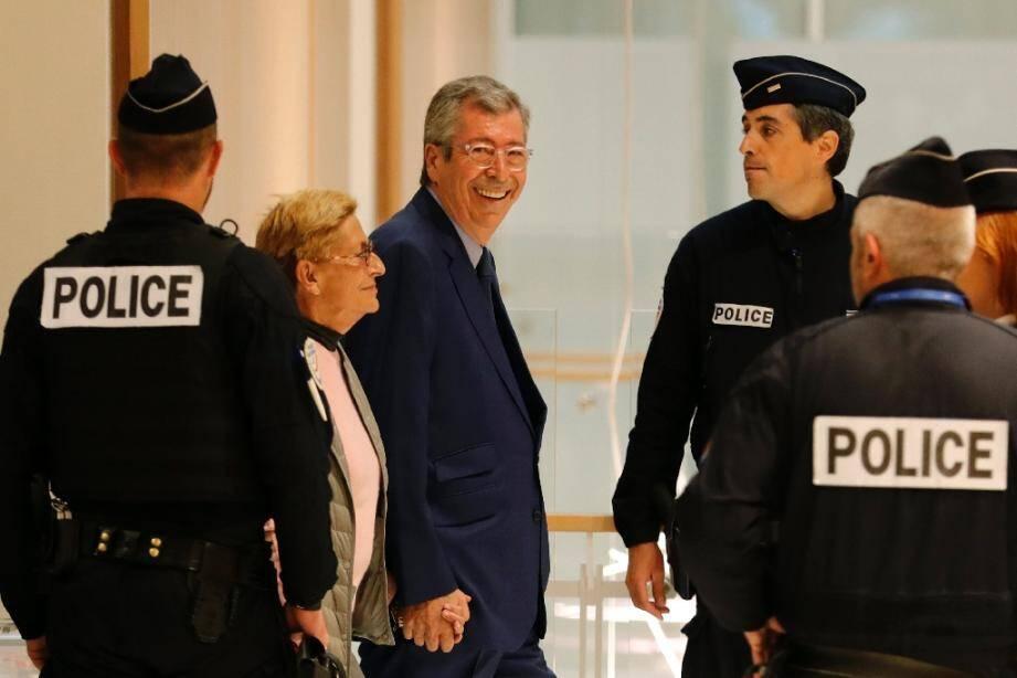 Arrivée d'Isabelle et Patrick Balkany au tribunal à Paris le 13 septembre 2019
