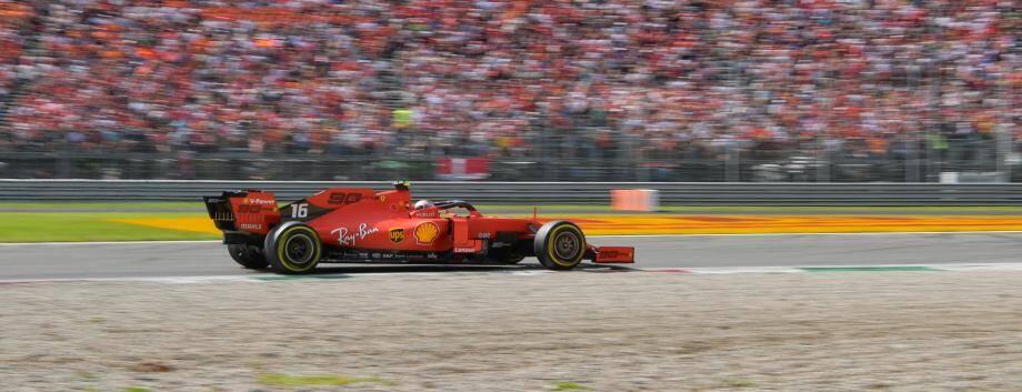 Charles Leclerc à Monza.