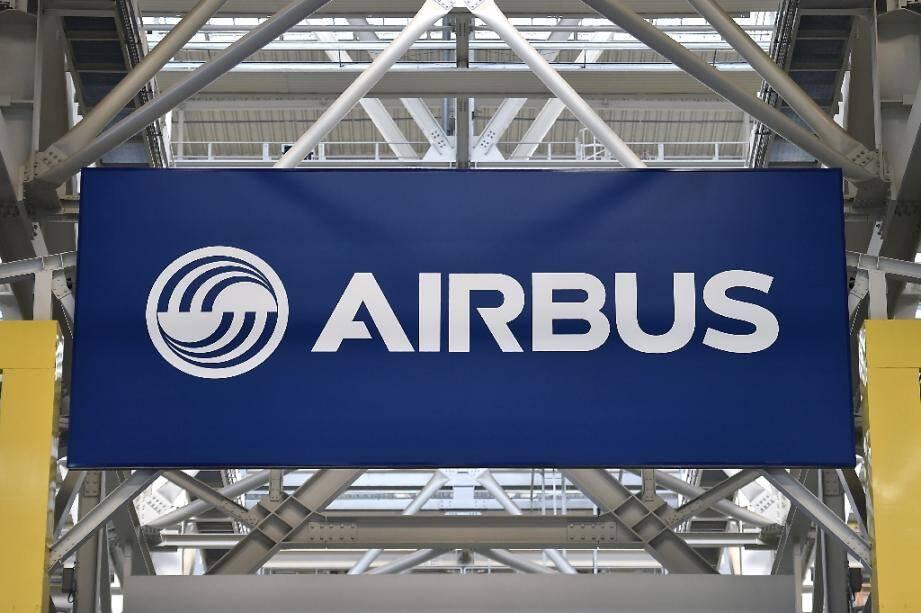 Le logo d'Airbus à Blagnac le 21 mars 2018