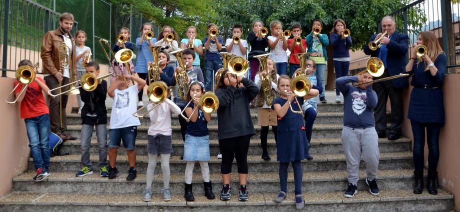 La classe orchestre de l'école Saint-Exupéry a été créée en 2017.(Archive photo N.-M.)
