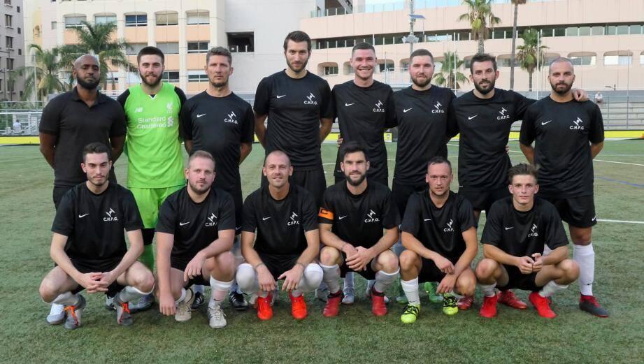 L'équipe de l'Hôpital de Monaco a réalisé un gros match en l'emportant 7-1 face à la Poste.(DR)