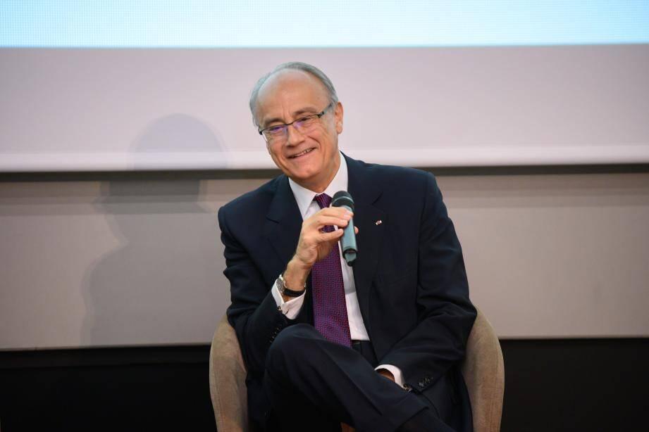 Jean-Luc Biamonti, hier, en conférence presse, dans l'amphithéâtre du One Monte-Carlo.