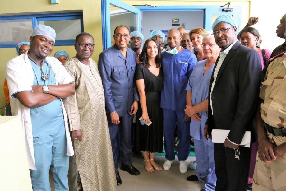 Les équipes malienne et monégasque avancent main dans la main. (DR)