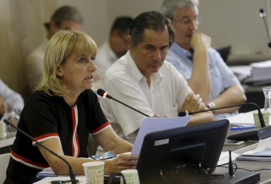 Catherine Le Lan et Patrice Miran en juin dernier lors du dernier conseil municipal.