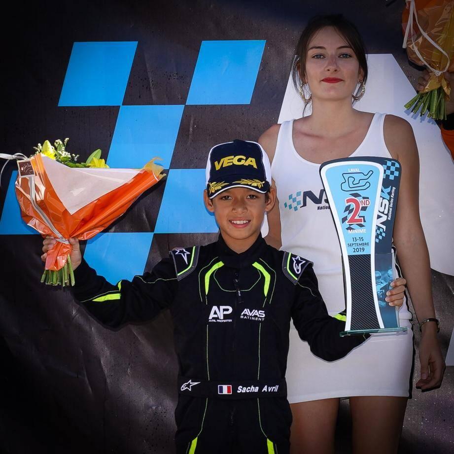 Sacha Avril rafle des titres depuis qu'il a commencé le karting en 2018.(DR)