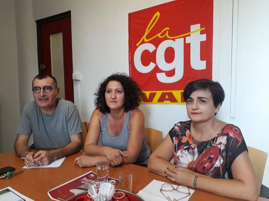 De gauche à droite : Olivier Masini, Manon Magagnosc et Françoise Martinez.