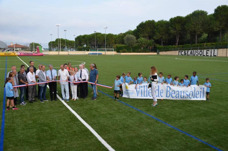 L'entraûneur de l'AS Monaco, Leonardo Jardim, était présent à l'inauguration.