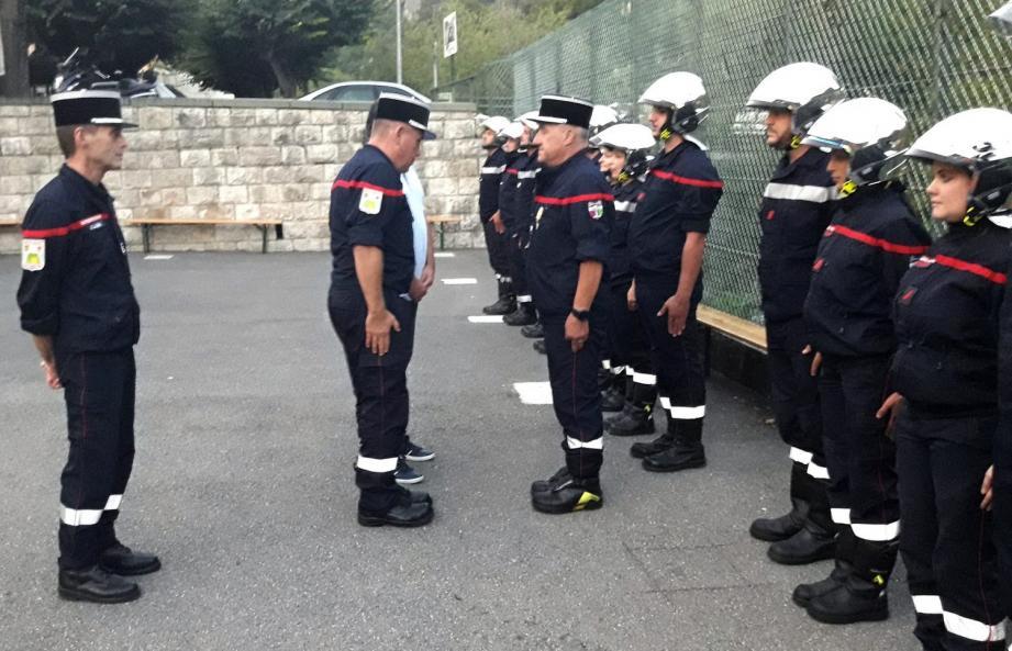 Jean-François Migliore a reçu la Médaille d'or pour ses trente années de service comme sapeur-pompier.