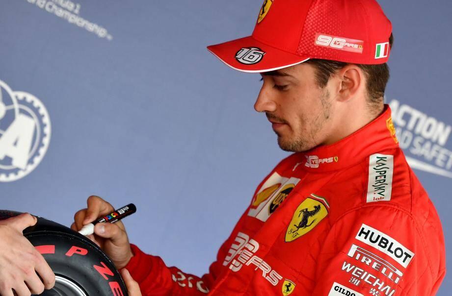 Encore une pole position signée Charles Leclerc !