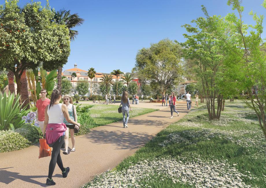 Le jardin de 4 000 m2 devrait fleurir sur l'actuel parking anarchique de la fac.
