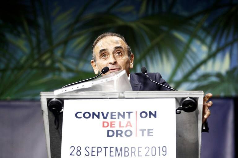 """Éric Zemmour lors de la """"Convention de la droite""""."""