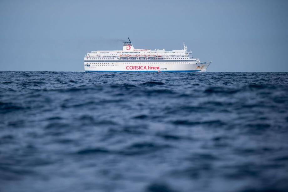 Un ferry de Corsica Linea en mer, le 20 août 2019