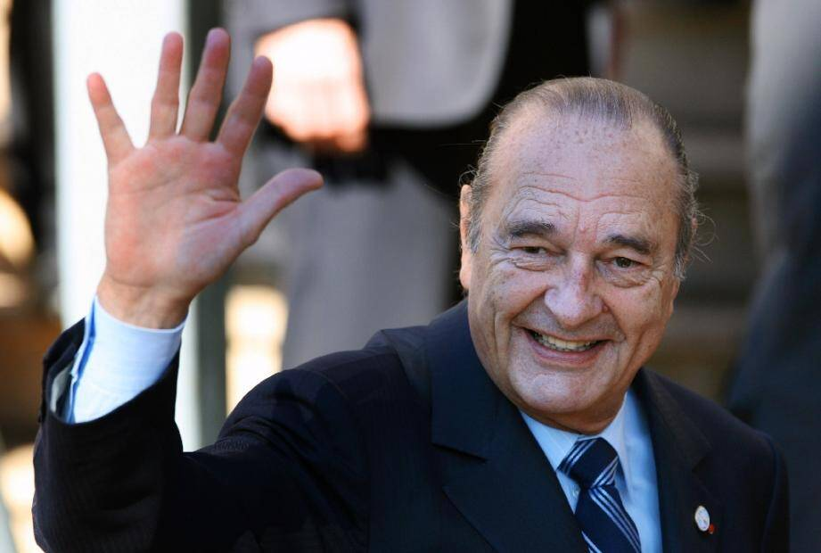 Jacques Chirac en 2007 à Cannes