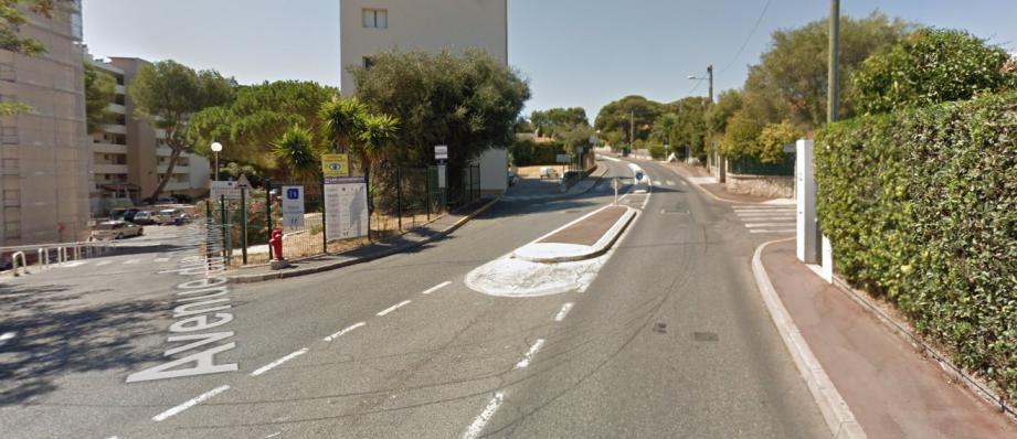Le choc a eu lieu avenue des Châtaigniers, à Antibes.