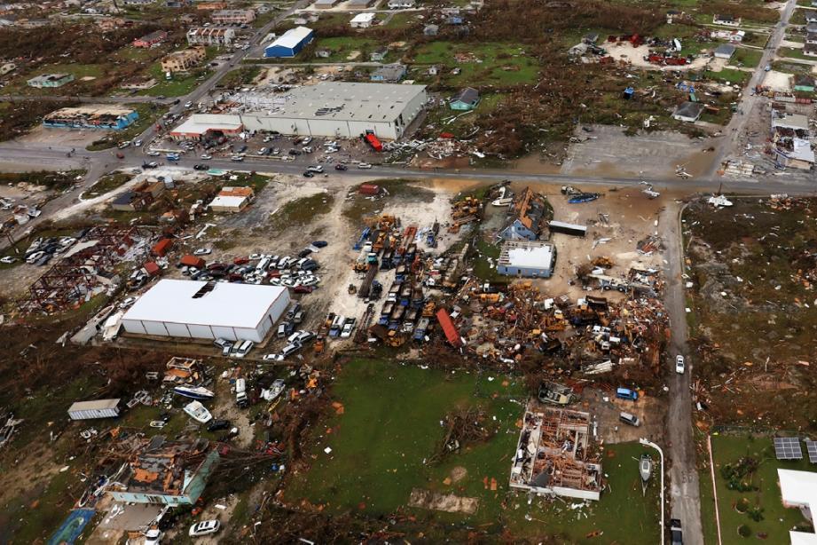 L'ouragan Dorian a durement touché l'île de Great Abaco, au nord des Bahamas, le 3 septembre 2019.