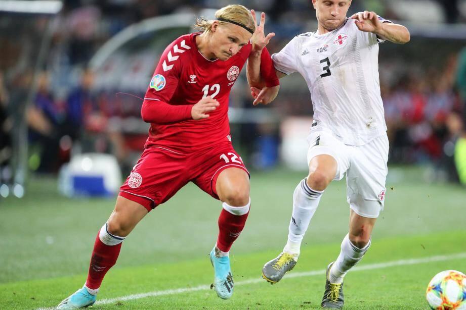 Kasper Dolberg a joué pendant la trêve avec sa sélection. Il devrait faire ses débuts samedi sous le maillot de l'OGC Nice.