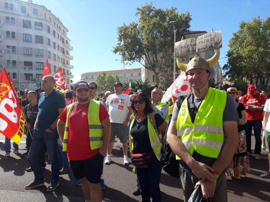 La colère contre le gouvernement Edouard Phlippe a grondé dans les rues de Toulon, ce mardi 24 septembre 2019.