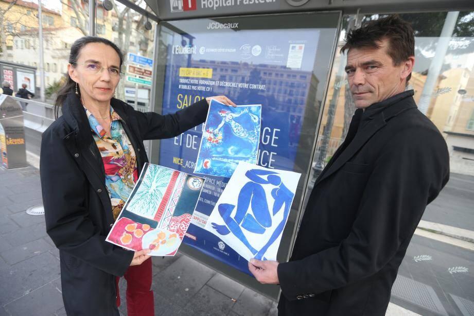 Juliette Chesnel-Leroux  et Fabrice Decoupigny, les deux élus écologistes niçois.