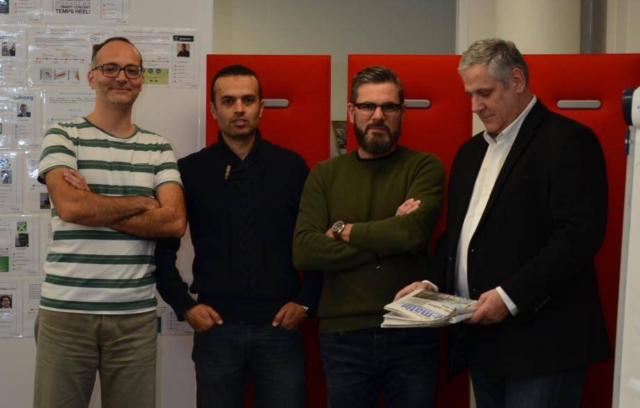 Les fondateurs et dirigeants de Cintoo 3D.