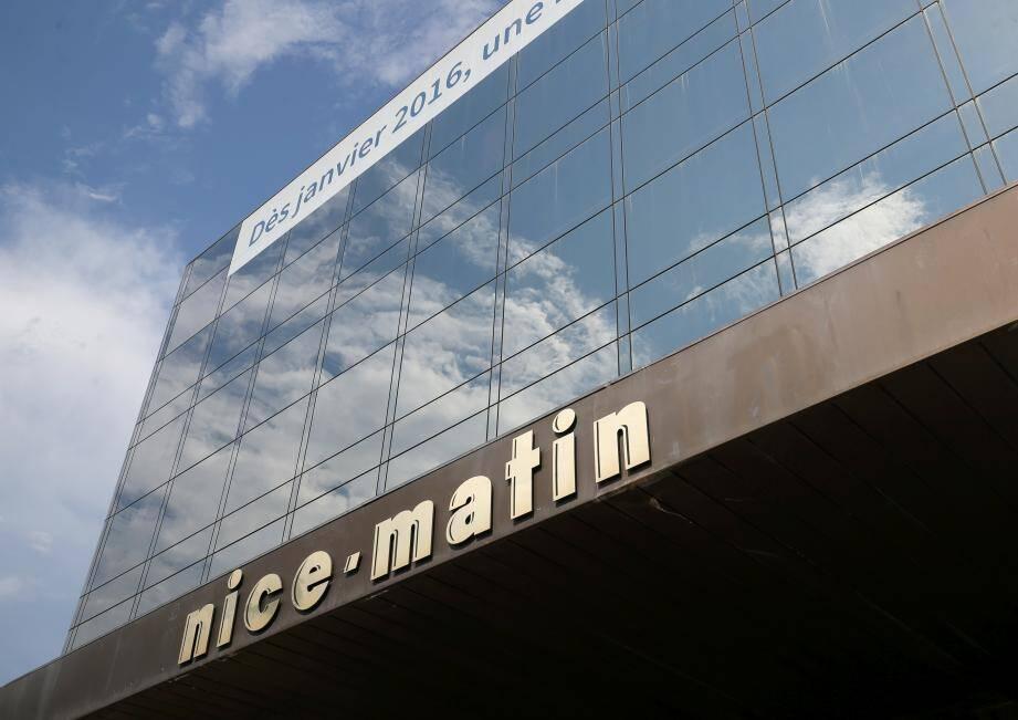 Façade du siège de Nice-Matin, à Nice.