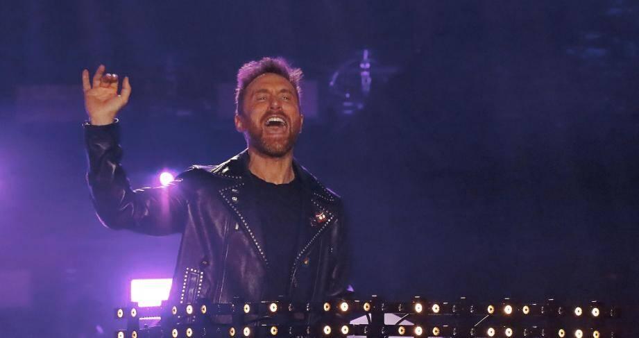David Guetta aux NRJ Music Awards en 2018 à Cannes.