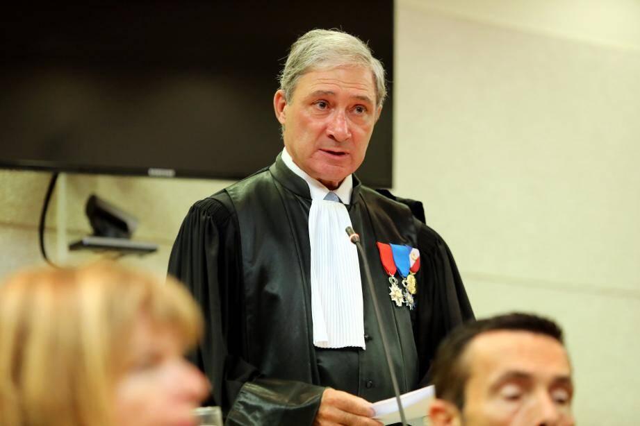 Jean Michel Prêtre, procureur de Nice lors de la rentrée solennelle du TGI.