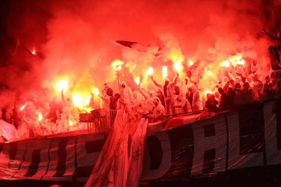 Les supporters de l'OGC Nice contre Bordeaux.