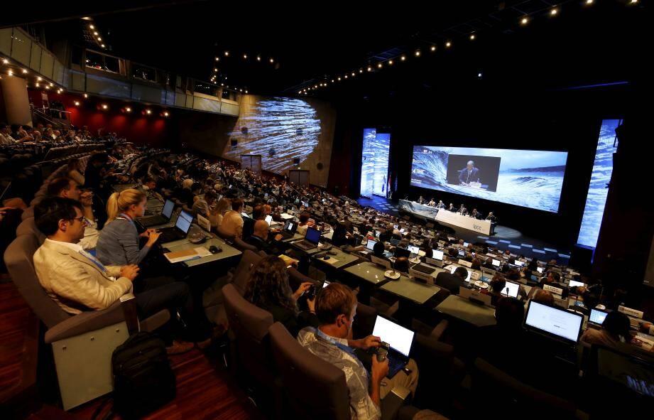 Vendredi 20 septembre 2019 à Monaco, lors du lancement du 51ème GIEC Groupe Intergouvernemental d'Expert sur l'Evolution du Climat.
