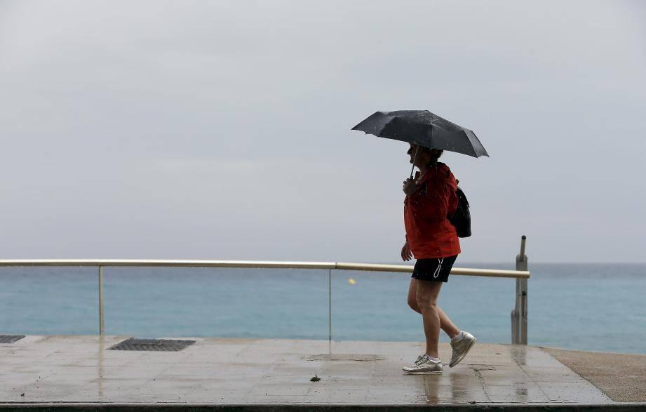 Illustration de la pluie à Menton.