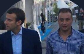 Moussa Ouarouss avec Emmanuel Macron