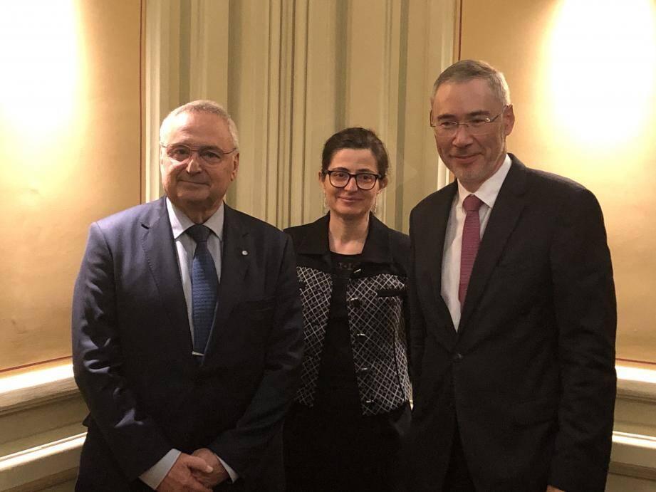 La conjoncture a été présentée par Jean-Pierre Savarino (CCI Nice Côte d'Azur), Anne-France Garcia et Christian Delhomme (Banque de France) dont c'était la 1e apparition publique depuis sa nomination.