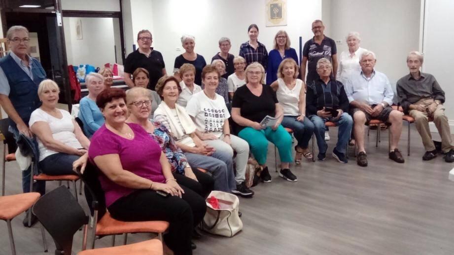 Les membres de la Cantarella, réunis lors de son assemblée générale.