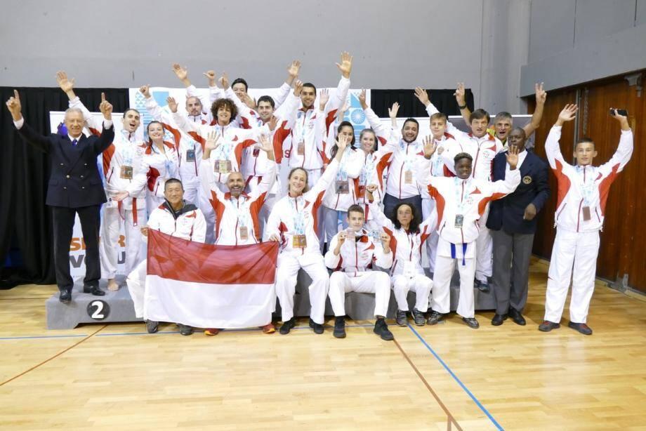 Les Monégasques ont décroché 21 médailles aux Jeux des petits États d'Europe de karaté.(DR)