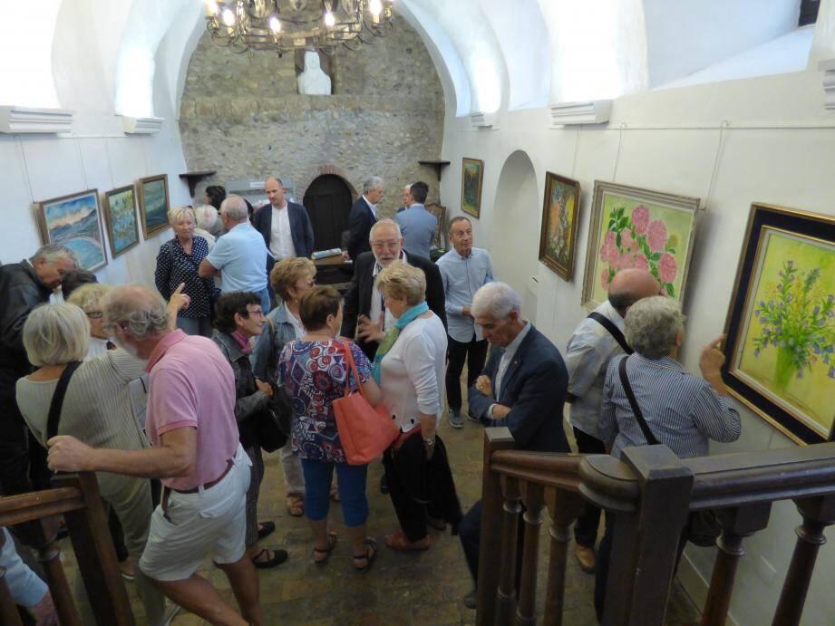 Vernissage de l'exposition consacrée à Louisette Métri hier.