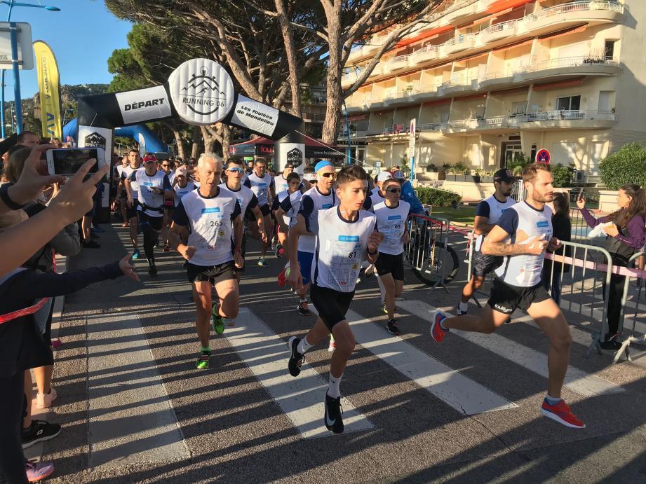 471 coureurs pour les courses des 4e Foulées de Mandelieu. A droite, Mathieu Charles vainqueur des 10 km.
