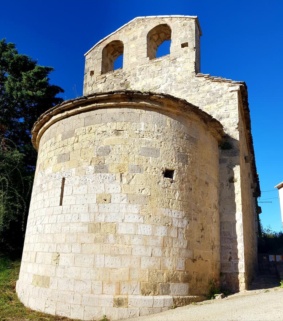 La chapelle Notre-Dame-de-Bethléem, seul vestige de l'ancienne commanderie templière de Bras.